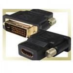 DVI (m) (24+1)/DVI-D - HDMI (f) Convertor Gold-Plated