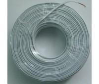 Телефонный кабель 4-х жильный (4x0.4mm), Белый, YD/T 926.2 Реальных 100м