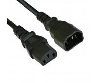 Cable power Кабель питания for UPS(комп.-монитор) C13-C14 1,5m 3g 0,75mm2 Original