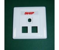 Front panel 3  (2*1) Port , для вставки M245/256 и для антенн или оптических вставок  A160-3, SHIP