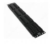 Patch panel 48-port,UTP-Cat5,RJ-45, 2Un, 110 IDC, LuLink