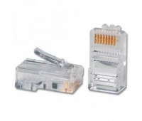 Connector RJ-45 8P8C cat 5e original МЕДЬ!!! (100 шт. в упаковке) (Цена в тенге!) Коннектор