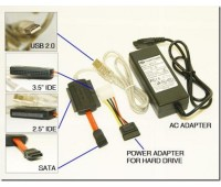 USB 2,0 to IDE Adapter 3.5'', to IDE Adapter 2.5''(for notebook), toSATA+Power supply480Mbps XF-6005