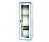 Шкаф коммутационный 19'' 42U напольный 600x800x2000mm 4 fan, 2 полки, 1 выдвижная, Surg