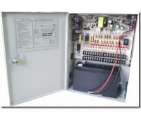 Блок питания металл Ящик, 100-240V, Output: DC 12V 20A + battery, 205x270x85, 18 каналов