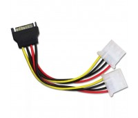 SATA-2*MOLEX Cable Power 15cm x2 (Блок питания SATA/m на 2*MOLEX/m устройство)