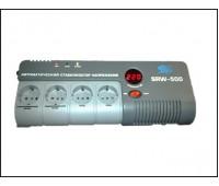 Стабилизатор напряжения цифровой SRW-500D вход 140-260v, выход 220v, защита телефонной линии SCS AVR
