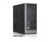 Case ATX Midi Tower SP 603 LCD-display, (silver/black),+USB,Audio front panel, без б.п