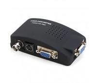 Video Converter to VGA, (вход и выходVGA+вход Video BNC и S Video)+ кабель:VGA,S-Video, Power Supply