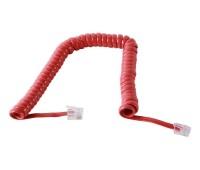 Телефонный кабель для трубки, спиральный красный 1,7м