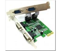 PCI-Express card to RS232 (COM) x 4port, MOSCHIP MCS9900+CD