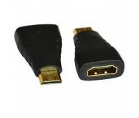 mini HDMI (m) - HDMI (f) Convertor Gold-Plated (для цифровых камер)