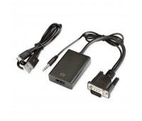 VGA to HDMI Adapter MINI, (вход VGA + Audio L/R Jack, выход HDMI) USB Power