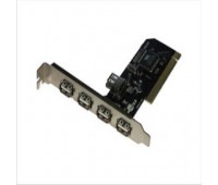 PCI card to USB 2.0 480Mbps 5 ports (4-Ext., 1-Int) Chip VIA VT6212L
