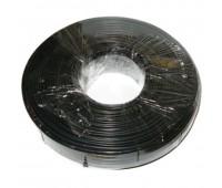 Телефонный кабель 4-х жильный, Черный (продается по 91,44м 100ярд)