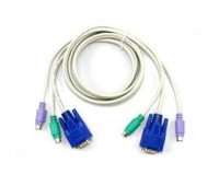 KVM Cables Keyboard Mouse Video 3in1 PS/2+PS/2+VGA (m-m) for KVM Switch 3m