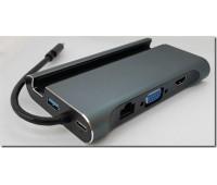 Type-C Подставка для телефона в USB 3.1 3 Port, в HDMI, в VGA, в LAN, в USB Type C