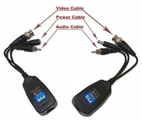 Video+Power+Audio Balun CVI/TVI/AHD/CVBS 4in1, 1 Channel Passive UTP UP 300m (комплект 2шт) VB220PVA