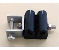cable-clamps Кабельный зажим для 2*10 мм кабелей, пластиковый, оцинкованный металл, нерж., -70+85C