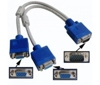 VGA splitter 2 port Cable (цвет белый) 2 Filtr