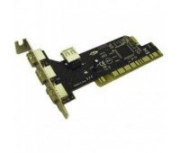 PCI card to USB 2.0 480Mbps 4 ports (3-Ext., 1-Int) Chip NEC D720102GC + CD