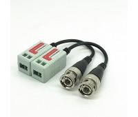 Video Balun AHD/CVI/TVI 1 Channel Passive Video Transceiver UTP W/B600m Color 400m (комплект 2шт)