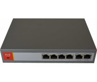 Сетевой коммутатор PoE Switch 10/100Mbps 4port+2port UP-Link, IEEE802.3af/at, PoE out:DC52V 120W