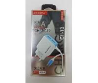 Зарядка для телефона 2.1А CH-13