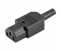 Вилка разборная прямая IEC320-C13 10A 250V Съемный разъём