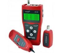 Сетевой Сканер-Тестер (трассоискатель) с наушниками для RJ-45, RJ-11, BNC, USB с LCD экраном  NF-308