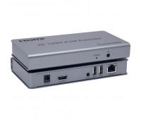 HDMI KVM Extender (Удлинитель) 4K 120m LAN, 2*USB, with IR and Audio