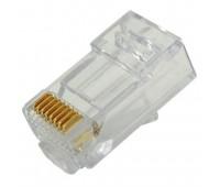 Connector RJ-45 8P8C cat 6 МЕДЬ!!! (1000 шт. в упаковке) (Цена в тенге!) Коннектор